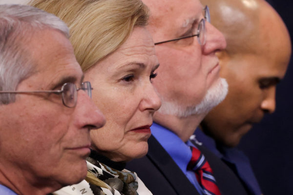 White House coronavirus task force members Fauci, Birx, & Redfield